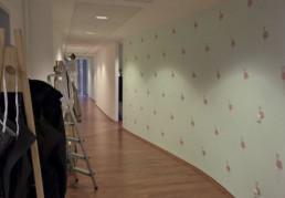 Wandgestaltung im Büroflur | Nürnberg
